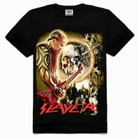 Hot-Selling 2015 Summer Men's 3D Skull Singer Print Short-Sleeve Fashion T American Cotton T-Shirt Top Plus Size S-3XL WN42