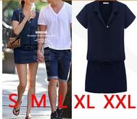2014 AliExpress Hot lapel women dress S-xxl Free Shipping