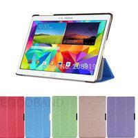 Free shipping WY5 Silk Patterns Slim Folding Leather Case For Samsung galaxy Tab S 10.5 SM-T800