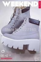 2014 The European station Jeffrey Korea stylenanda boots JC Martin saw Harajuku thick soled boots