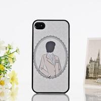 Bling Bling Shimmering Color Patter Hard Case Cover for iPhone 4 4S--Gentleman