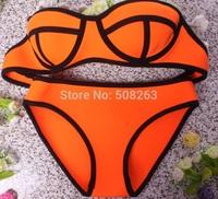 Factory Price New Summer Sexy Neoprene Swimwears Neoprene Bikinis Woman Swimsuit Set Push Up Bikini Set B-BK88