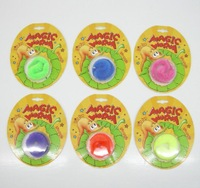 144pcs/lot Slideyz magic worm novelty toys new hot sale twisty magic wiggles 6 colors mixed with blister card