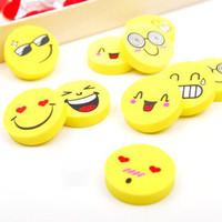 (Min order is $10) Stationery smiley eraser fun eraser single a753 (single price)
