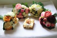 Free shipping wedding bouquet artificial flower bridal bouquets 16cm diameter 082922