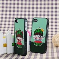 Bling Bling Shimmering Color Patter Hard Case Cover for iPhone 4 4S---  Watermelon children