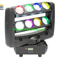 Beam moving head LED Bar light 8*10W RGBW color  2pcs/Lot Free ship by DHL