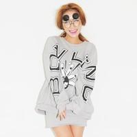 new 2014 autumn personality letter bowling sweatshirt long sleeve top pullover women hoody hoodies vintage harajuku tops shirt
