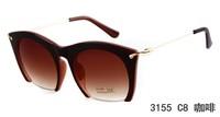 2014 New Fashion Cat Eye Sunglasses Brand Sunglasses Lady UV Woman Sunglasses glasses Free Shipping 3155