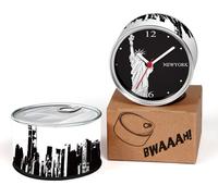 Unite States New York City Designs Kitchen Fridge Magnets Wall Clocks Cheap Desk Table Function Clocks 2pcs a lot Free Shipping