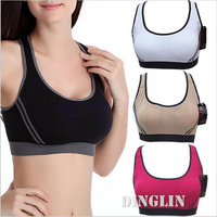 7 Color 2014 Womens Ladies Female Girls Casual Yoga Athletic Activewear Racerback Fitness Yoga Sports Bra Top Brassiere SML 5036