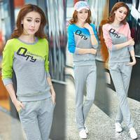 2014 sports casual set fashion autumn long-sleeve slim sweatshirt spring and autumn women's