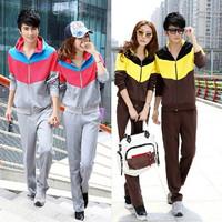 2014 spring and autumn sports set women's casual sweatshirt set cardigan long sleeve length pants sportswear