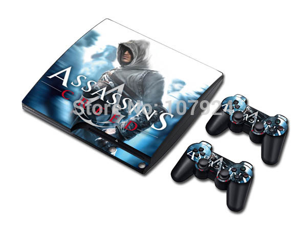 Assassins Decal Vinyl Color Skin Sticker for PS3 slim Game Console Player Skin Protector(China (Mainland))