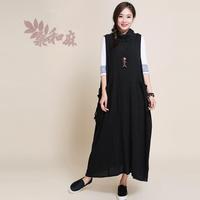 [ LYNETTE'S CHINOISERIE - Sang ] 2014 women's water wash fluid long ruffle tank dress one-piece dress