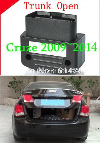 OBD window closer TRUNK open+Shock Sensor+Car Alarm security system for 2009 2010 2011 2012 2013 2014 Chevrolet Cruze(China (Mainland))
