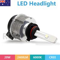 9006 Car LED Headlight Lamp 20W 2400LM CREE 9006 Conversion Kit 6000K White as daylight