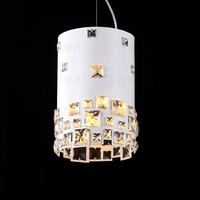 free shipping e14 led 21*21*32cm cm K9 Square Crystal round  baking  minimalist fashion  luxury modern white  pendant light