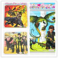 How to Train Your Dragon 2 children's cartoon children's intelligence puzzle game 13.7x13.7cm
