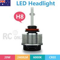 H8 LED Headlight Lamp 2400LM 20W CREE H8 Conversion Kit 6000K White as daylight