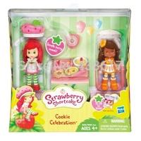 Free Shipping Original Strawberry Shortcake Mini Figure Two Pack Cookie Celebration Strawberry Shortcake Orange Blossom toy doll