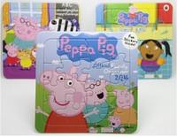 peppa pig children's cartoon children's intelligence puzzle game 13.7x13.7cm