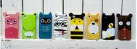 Colorful 3D Cute Animal With Ear Style Hard Back Cover Phone Cases For Iphone 5 Case ,mix color.