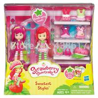 Free Shipping Original Strawberry Shortcake Sweetest Styles Playset design pretty dresses Fashion Show toys dolls for girls