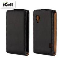 Genuine Leather Case For LG Optimus L5 II E450 E460 E455 , Flip Real Leather Cover For LG L5II ,11 Colors , 10pcs free shipping