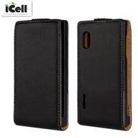 Genuine Leather Case For LG Optimus L5 E610 E612 E615 , Flip Real Leather Cover For LG L5 ,11 Colors ,10pcs/lot free shipping