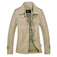 2014 Autumn winter Men coat / leather long section seven wolves / men jacket / trench coat men/Size M-XXXL