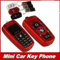 2014 New Luxury car key phone for kids gril mini bar mobile phone with leather pendant small size with MP3 player Russian French
