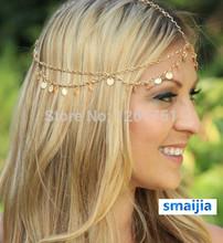 Hair Accessories Charm Gothic Bohemian Boho Hair Crown Cuff Headband Headwrap Headdress Chain 06N1(China (Mainland))