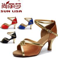 New Fashion Style Free Shipping Gorgeous Women's Ladies Latin Tango Ballroom Salsa Heeled Dance Shoes WZSP807 5cm Heel High