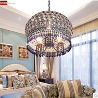 2014 latest styles Bohemian Mediterranean style lamps The blue color crystal chandelier Single head droplight  51w-60w