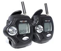 Free shipping!2pcs Freetalker 2-Way Talking Walkie Talkie UHF Radio 22CH Digital Wrist Watch