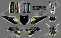 0551 ROCK STAR (black)New style Team 3M DECALS STICKERS Graphics Kits for KTM50 SX50 50CC 50 50SX 2009-2013