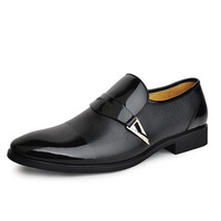 Fashion Design Slip-On Men Genuine Leather Business Shoes Man Wedding Flats Sneakers Size 38-43 Free Shipping
