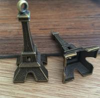 6PCS/lot   40mmx22mm Eiffel Tower charm