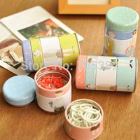 Cute Korean Style storage box,thumbtack+memo clip+rubber band set tin box,wholesale price(tt-744)