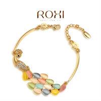ROXI 18k gold platd peacock bracelets,Top High quality,fashion jewelrys for  women Christmas gifts 2060036760 AN