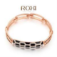 ROXI 18K yellow rose gold leopard grain austrian crystal bracelets,Top High quality,factory price 2060028835 AN