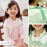 Free shipping Kids Girls Sweet princess lace cardigan jacket coat female baby lace dress 2014 Spring New baby coat