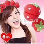 1200Pcs Cute Magic DIY Hair Style Foam Strawberry Balls Soft Sponge Hair Curler Rollers
