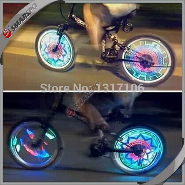 velo bike spining decoration velo wheel exercise bike accessory parts cycling spinning velo lamgp light wheel 36 led 3 colors(China (Mainland))