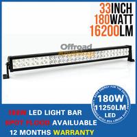 """180W 33"""" LED Work Driving Light Bar Fog Lamp Spot Wide Floodlight Beam 10V~30V for Car Truck SUV 4x4 ATV OffRoad"""