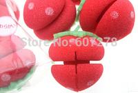 new Sell 250 set (1500pcs)Strawberry Soft Sponge Hair Curler Roller Balls Free Shipping