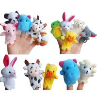 Free Shipping 10pcs/lot Plush Toys Cute Animals Plush Dolls Finger Puppets Kids Doll For Children Gift On Sale Baby Dolls