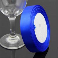 "Deep Blue Grosgrain Ribbon Wedding Decoration Ribbons  0.6""(2cm) Width 25 yards(23-25 m) Length"
