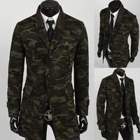 Men's necessary tide Men's fashion camouflage trench coat